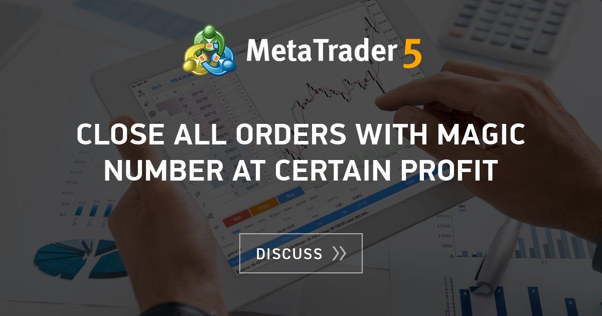 Metatrader magic number