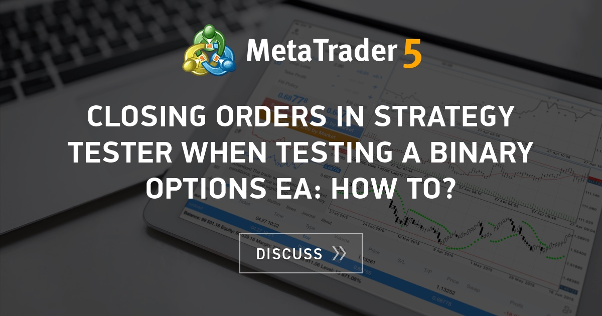 Strategy tester binary options