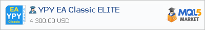 Buy YPY EA Classic ELITE Expert Advisor in the store selling algo trading systems