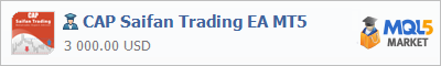 Buy CAP Saifan Trading EA MT5 Expert Advisor in the store selling algo trading systems