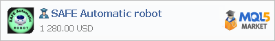 Buy SAFE Automatic robot Expert Advisor in the store selling algo trading systems