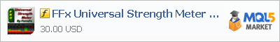 Buy FFx Universal Strength Meter PRO customer indicator in the store selling algo trading systems