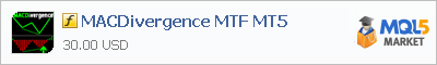 Buy MACDivergence MTF MT5 customer indicator in the store selling algo trading systems