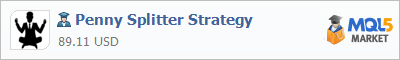 Buy Penny Splitter Strategy Expert Advisor in the store selling algo trading systems