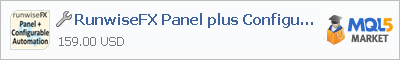 Buy RunwiseFX Panel plus Configurable Automation trading application in the store of automated robot systems