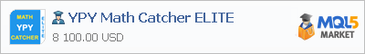 Buy YPY Math Catcher ELITE Expert Advisor in the store selling algo trading systems