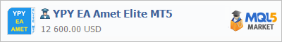 Buy YPY EA Amet Elite MT5 Expert Advisor in the store selling algo trading systems