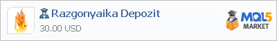 Buy Razgonyaika Depozit Expert Advisor in the store selling algo trading systems