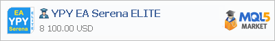 Buy YPY EA Serena ELITE Expert Advisor in the store selling algo trading systems