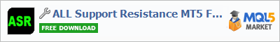 Buy ALL Support Resistance MT5 Free trading application in the store of automated robot systems