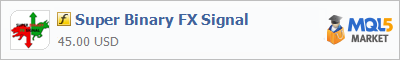 Buy Super Binary FX Signal customer indicator in the store selling algo trading systems