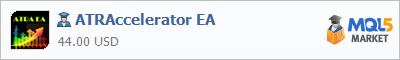 Buy ATRAccelerator EA Expert Advisor in the store selling algo trading systems