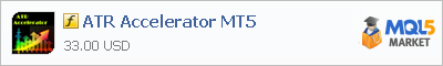 Buy ATR Accelerator MT5 customer indicator in the store selling algo trading systems