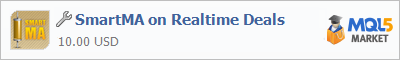 Buy SmartMA on Realtime Deals trading application in the store of automated robot systems