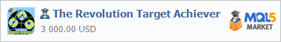 Buy The Revolution Target Achiever Expert Advisor in the store selling algo trading systems