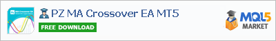 Buy PZ MA Crossover EA MT5 Expert Advisor in the store selling algo trading systems