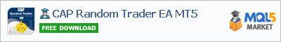 Buy CAP Random Trader EA MT5 Expert Advisor in the store selling algo trading systems