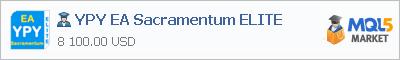 Buy YPY EA Sacramentum ELITE Expert Advisor in the store selling algo trading systems