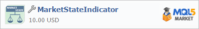 Buy MarketStateIndicator trading application in the store of automated robot systems