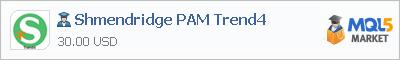 Buy Shmendridge PAM Trend4 Expert Advisor in the store selling algo trading systems