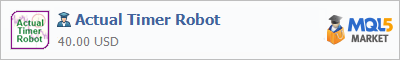 Expert Advisor Actual Timer Robot