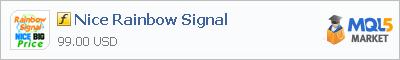 Buy Nice Rainbow Signal customer indicator in the store selling algo trading systems