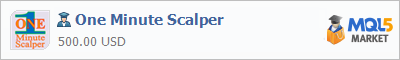 Buy One Minute Scalper Expert Advisor in the store selling algo trading systems