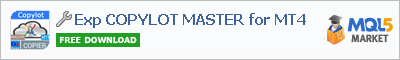 Buy Exp COPYLOT MASTER for MT4 Expert Advisor in the store selling algo trading systems