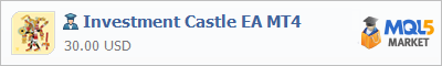 Buy Investment Castle EA MT4 Expert Advisor in the store selling algo trading systems