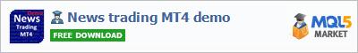 Expert Advisor News trading MT4 demo