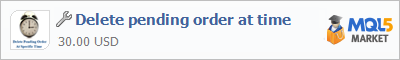 Buy Delete pending order at time trading application in the store of automated robot systems