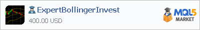 Buy ExpertBollingerInvest Expert Advisor in the store selling algo trading systems