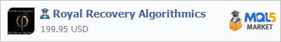 Buy Royal Recovery Algorithmics Expert Advisor in the store selling algo trading systems