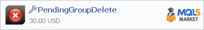 Buy PendingGroupDelete trading application in the store of automated robot systems