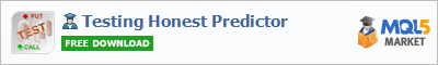 Buy Testing Honest Predictor Expert Advisor in the store selling algo trading systems