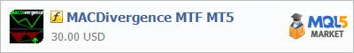アルゴリズムトレーディングシステムを販売するストアの中でカスタムインディケーターMACDivergence MTF MT5を購入する