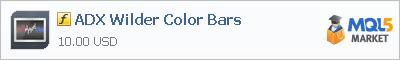 Индикатор ADX Wilder Color Bars