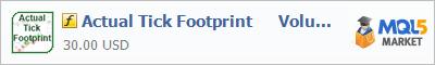 Купить индикатор Actual Tick Footprint      Volume Chart в магазине систем алготрейдинга