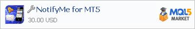 Купить приложение NotifyMe for MT5 в магазине систем алготрейдинга