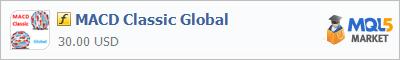 Индикатор MACD Classic Global