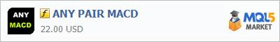 Купить индикатор ANY PAIR MACD в магазине систем алготрейдинга