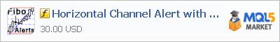 Скачать индикатор Horizontal Channel Alert with Fibo