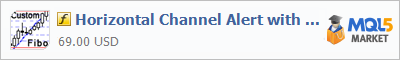 Купить индикатор Horizontal Channel Alert with Custom Fibo в магазине систем алготрейдинга