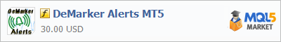Купить индикатор DeMarker Alerts MT5 в магазине систем алготрейдинга