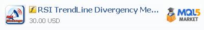 Купить индикатор RSI TrendLine Divergency Message в магазине систем алготрейдинга
