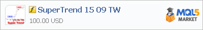 Купить индикатор SuperTrend 15 09 TW в магазине систем алготрейдинга