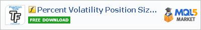Индикатор Percent Volatility Position Size tfmt4