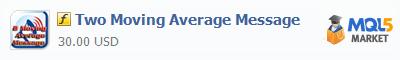 Купить индикатор Two Moving Average Message в магазине систем алготрейдинга