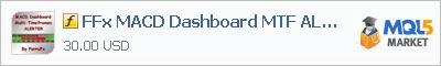 Индикатор FFx MACD Dashboard MTF ALERTER