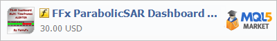 Индикатор FFx ParabolicSAR Dashboard MTF ALERTER